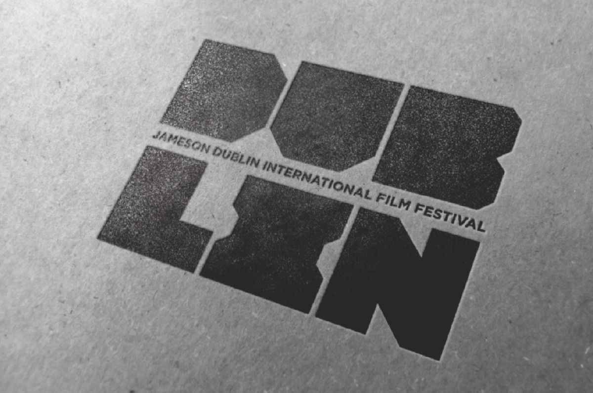 A geometric style logomark for the dublin international film festival website by design agency design factory