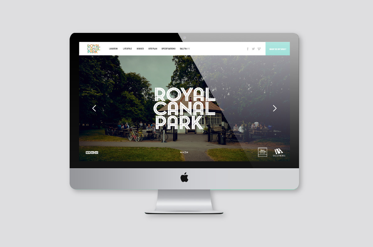 Website design for royal canal park