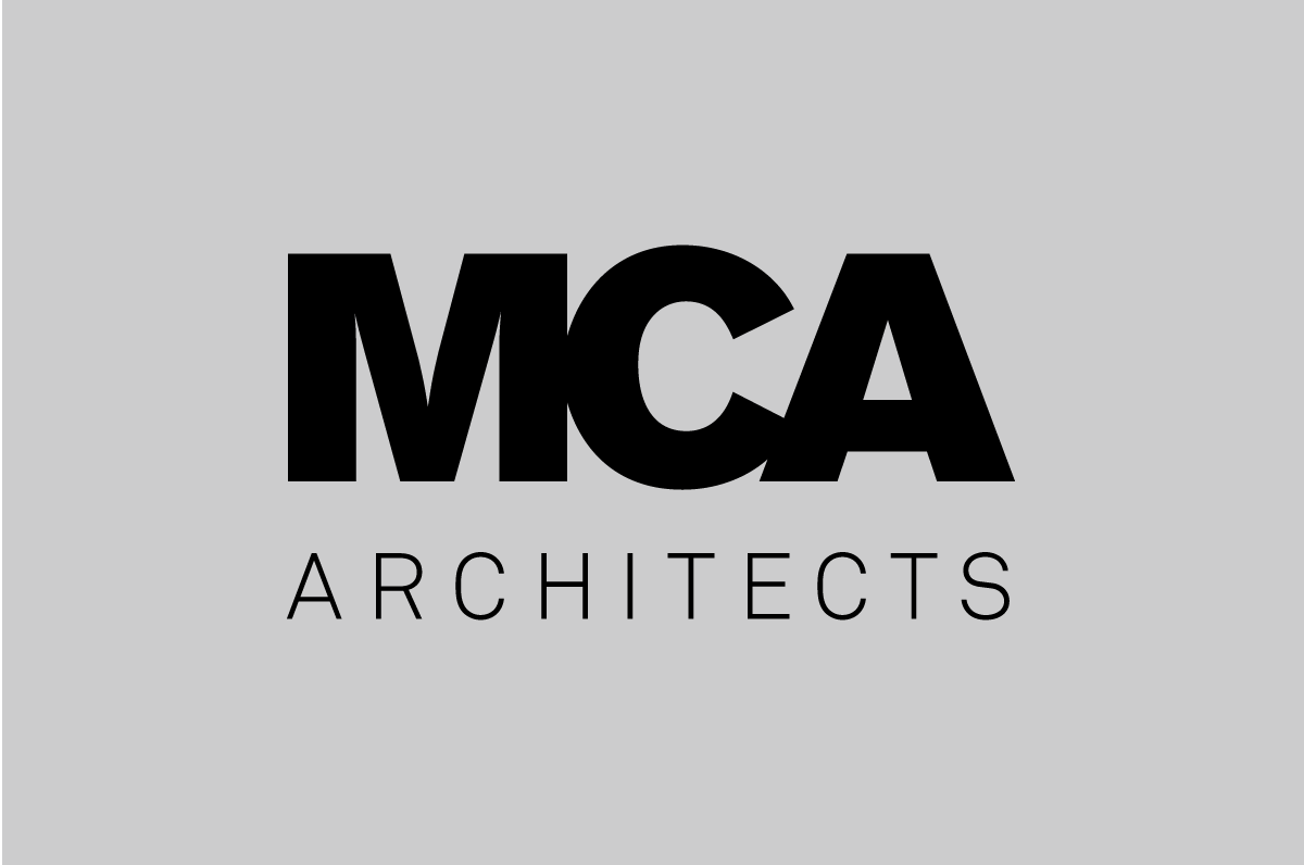 Logo design for MCA Architects. This was created by the graphic design studio Design Factory. A design agency based in Dublin, Ireland.