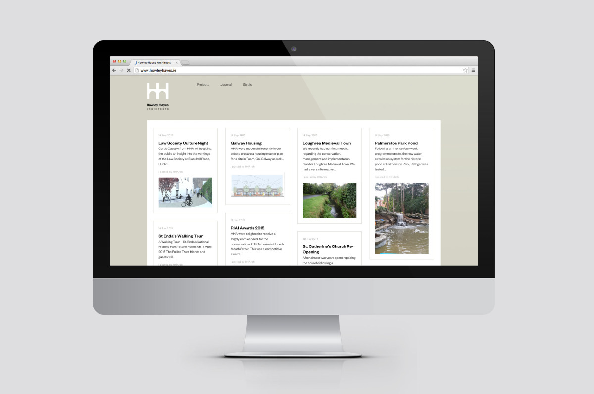 Mobile responsive website designed for Howley Hayes. This was created by the creative graphic design studio Design Factory. A design agency based in Dublin, Ireland.