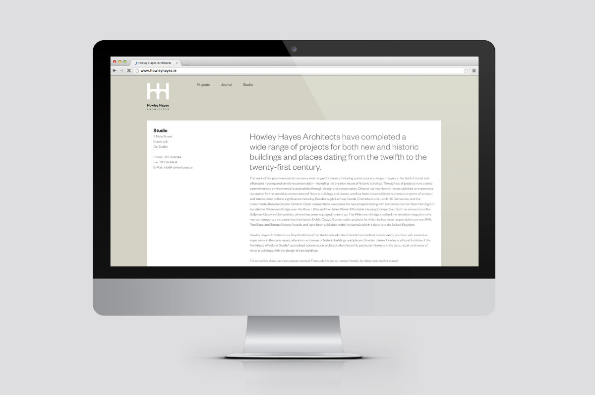 Mobile responsive website designed for Howley Hayes