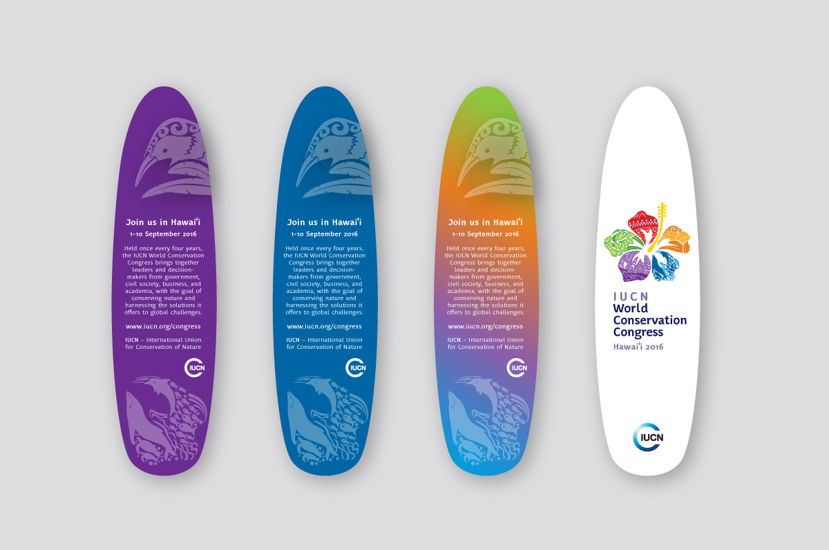 Branding and identity for IUCN - Surfboard
