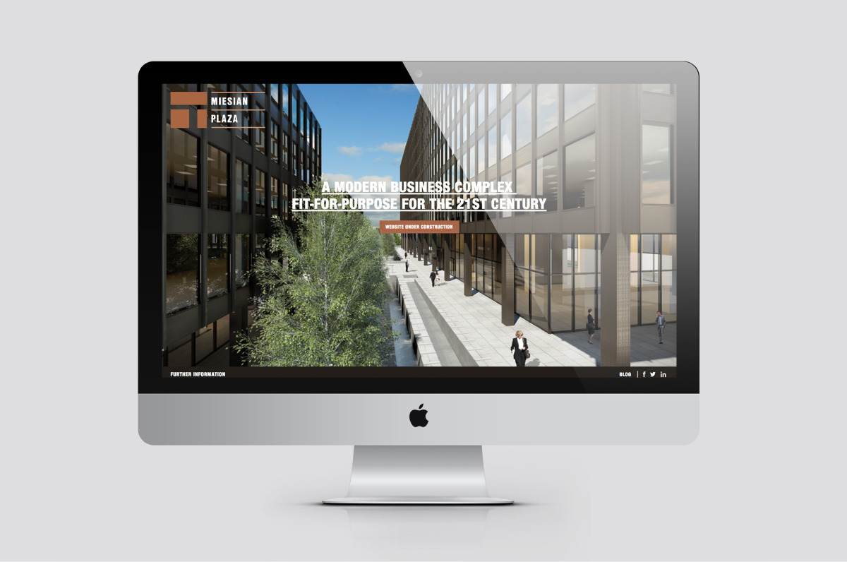 A mobile responsive website using the brand identity