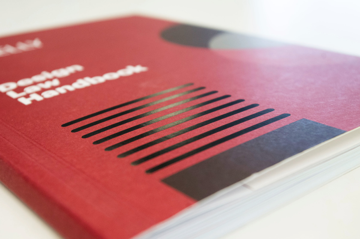 Graphic front cover of the Design Law Handbook