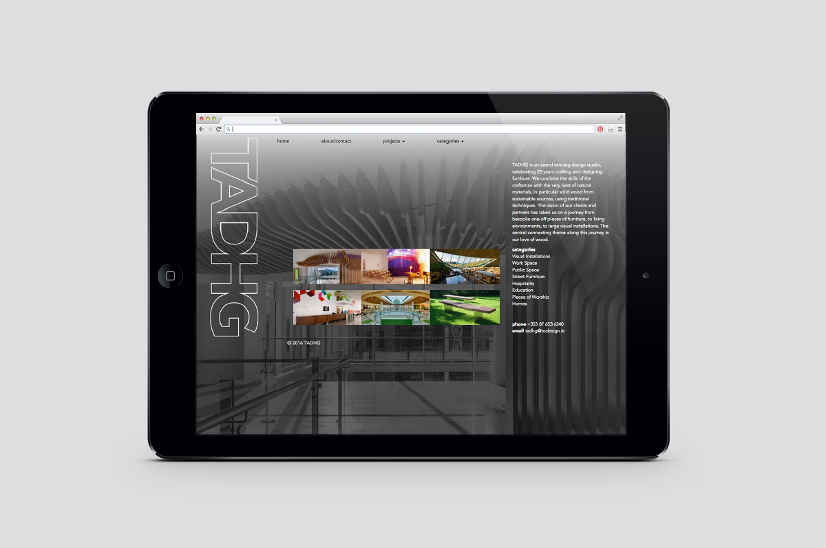 A visual mockup of the website design using the brand identity