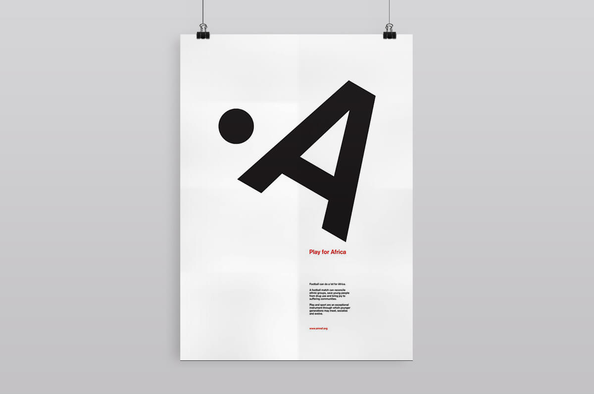 A typographic poster by the agency design factory.