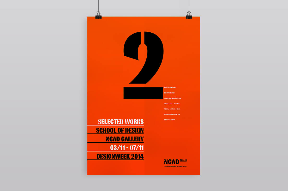 A poster created for NCAD by design factory using. studio resources.