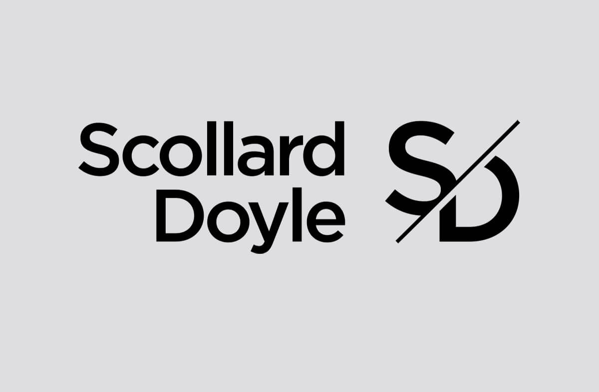 Scollard Doyle Branding and Idenity. This was created by the graphic design studio Design Factory. A design agency based in Dublin, Ireland.