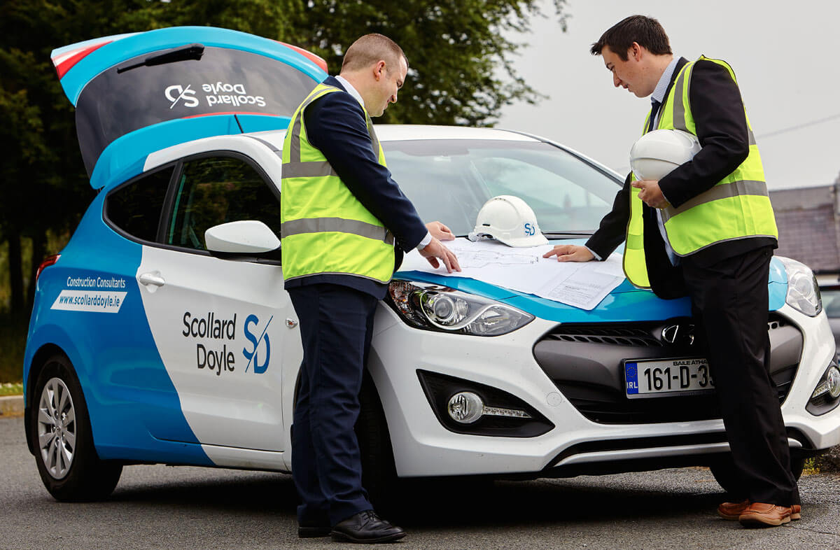 Corporate vehicle branding for Scollard Doyle by Dublin based studio Design Factory